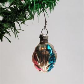 kerstversiering zilver blauw roze christmas ornament 1930s - 1950s