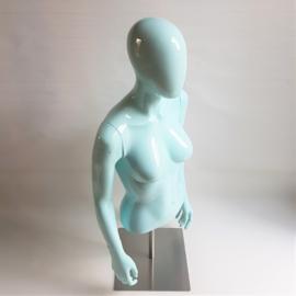 paspop buste op voet pastel blauw 1980s / 1990s