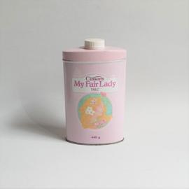 talcpoeder blik talcum powder tin box my fair lady cussons 1980s