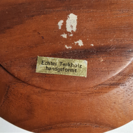 hout kom schaaltje bowl teak wood 1960s