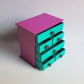 opbergsysteem ladenkast small desktop organizer caddy with drawers 1980s