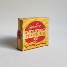 scheerzeepcup adelaar rondella in verpakking shaving soap in package 1950s