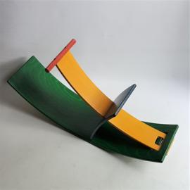 kinderstoel schommelstoel wolfgang rebentisch stokke norwegen hippo wobbel board 1993