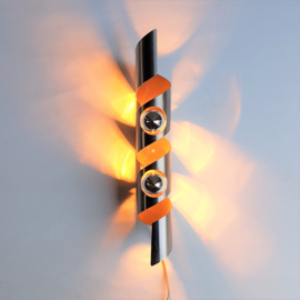 wandlamp wall lamp polam raak wokkel space age 1960s