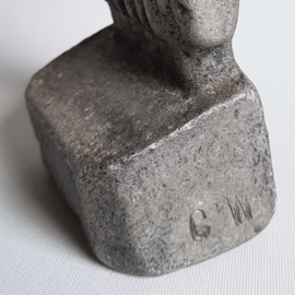 beeld figurine aluminium sculpture willy ceysens brutalisme 1960s