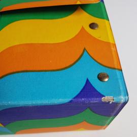 koffer cassettebandjes cassette tape case 1970s