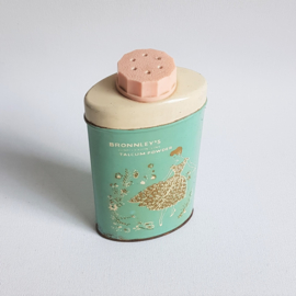 talcpoeder blik talcum powder tin box bronnley's 1950s / 1960s