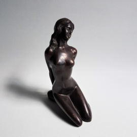 beeld dame brons lady figurine sculpture bronze 1930s