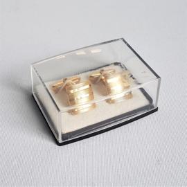 manchetknopen goud-kleur cufflinks 1970s