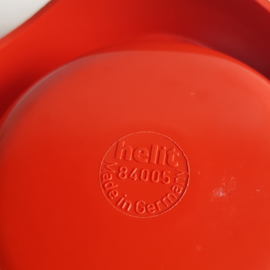 asbak space age rood ashtray helit 1970s