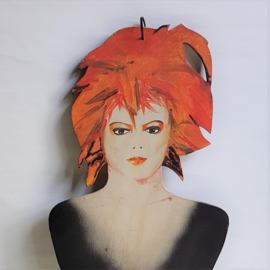 bowie, david kapstok kledinghanger coat hanger art painted 1980s