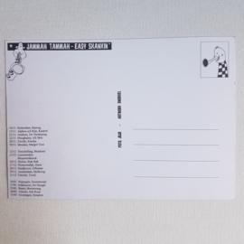jammah tammah piepke ansichtkaart tourkaart `easy skankin` ongelopen 1990s GRATIS VERZENDEN