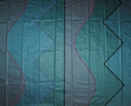 vintage stof grafisch fabric interlubke 1980s