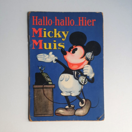mickey mouse rat face boek book hallo hallo..hier micky muis 1930s