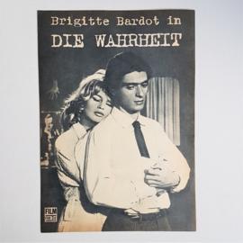 bardot, brigitte die wahrheit la vérité bioscoop folder cinema flyer 1960s