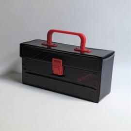 koffer cassettebandjes cassette tape case 1980s