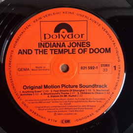 indiana jones and the temple of doom: soundtrack LP john williams polydor 1984