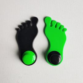 haak kapstok 2x voeten ongebruikt foot shaped hooks 1970s / 1980s