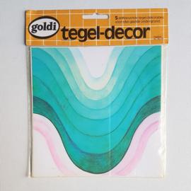 tegelstickers tegel decor goldi 5x space age tile stickers 1970s