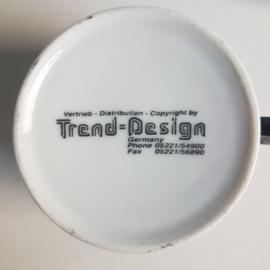 kop en schotels 5x cup & saucer trend-design germany IMRY 1980s