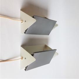 wandlamp wall lamps set 2x anvia j.hoogervorst 1960s