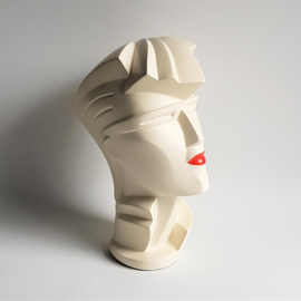 "beeld sculpture head lindsey b. balkweill art ""irmgard with red lips"" 1984"