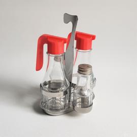 peper en zoutstel olie azijn salt & pepper set 1960s