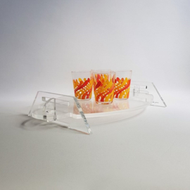 tafel dienblad tray table display 43 cm l plexi glass 1980s / 1990s