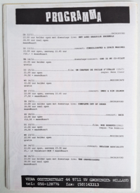vera club krant groningen programma nr.22 10 november 1994