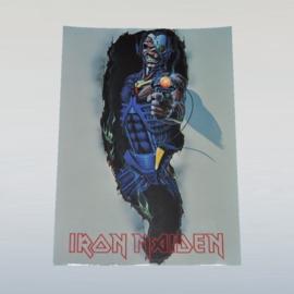 iron maiden ansichtkaart ongelopen unused postcard 1980s