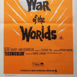 war of the worlds film movie poster australian daybill 1970s