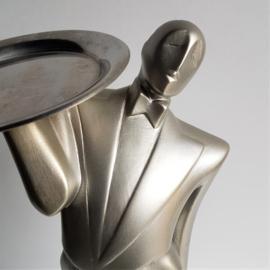 "beeld sculpture lindsey b. balkweill ""garcon the waiter"" 1985"