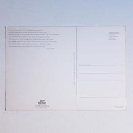 ansichtkaart ongelopen postcard unused lips 1980s