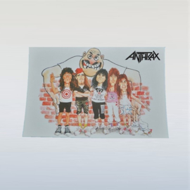 anthrax ansichtkaart ongelopen hardrock unused postcard 1980s