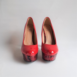 schoenen PIN-UP rood pumps high heels retro maat 37 bestelle NIEUW NEW