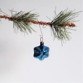 kerstversiering blauw ster christmas star ornament 1930s - 1950s