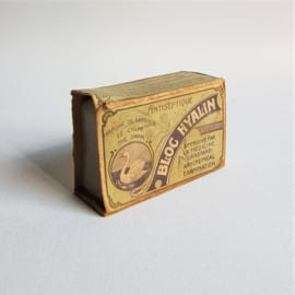 scheerzeep the swan blog hyalin in verpakking shaving soap in package 1930s