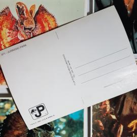 jurassic park 7x ansichtkaart ongelopen postcard 1993