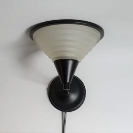 wandlamp glas wall lamp glass memphis design style 1980s