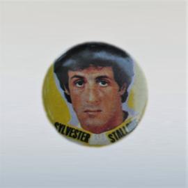 stallone, sylvester button pin 1980s GRATIS VERZENDEN