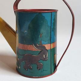 donald duck gieter blik speelgoed disney toy tin watering can ohio art usa 1938