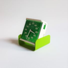 alarm klok wekker reisklok clock wind-up staver space age 1970s