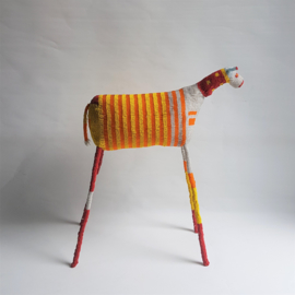 monkeybiz art glazen kralen zebra african beadwork 65 cm H