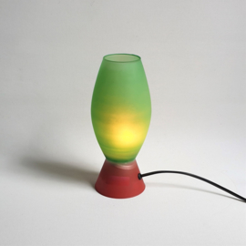 tafellamp glas desk lamp vandeheg glass 1990s
