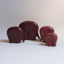 beeld olifant 4-delig elephant figurine 4 pieces luigi colani style 1980s
