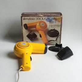 föhn haardroger geel yellow space age lem italy hairdryer 1970s