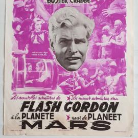 flash gordon's trip to mars SF film movie poster belgium 1950s