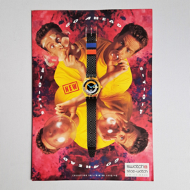 swatch horloge folder fall winter collection booklet 1992 1993