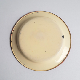 mickey mouse rat face bord emaille enamel plate 1930s