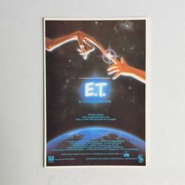 E.T. ansichtkaart ongelopen postcard 1980s